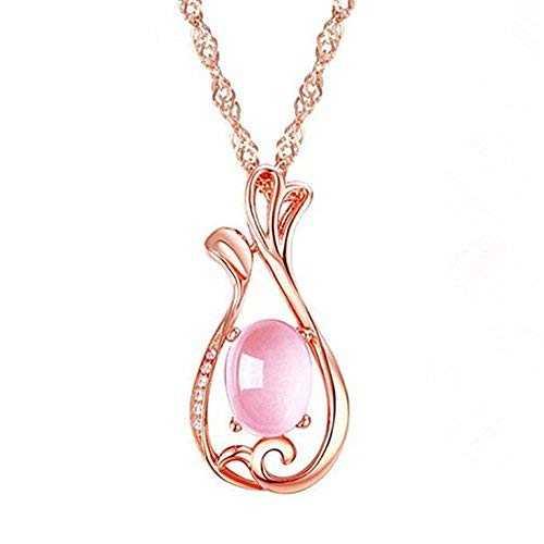 Demana Collar joyería accesorios de vestir elegante fiesta de bodas chain necklaces para mujer,Sabio de oro rosa