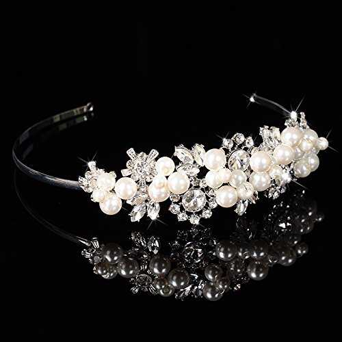 Pavian High End Custom Corona Diadema Head Wear vidrio Perla Tiara Headpiece Tocado Novia Boda Bridesmaid