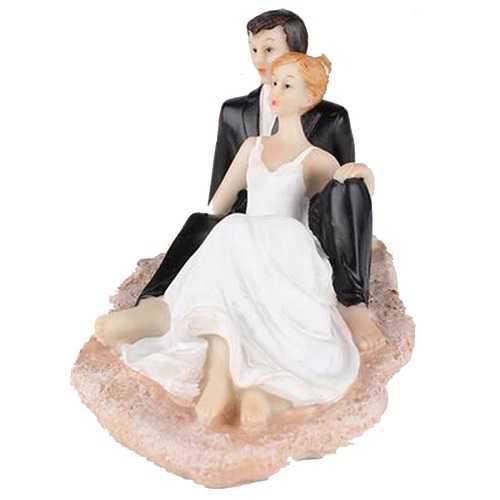 Silla de Little Sweet playa Pastel de Boda Topper novia y el novio Estatuilla Decoración Propose Aniversario de boda
