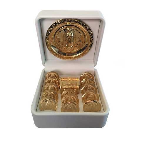 _ nuestra Señora de Guadalupe Arras de boda – ARRAS DE matrimonio boda – la Virgen de Guadalupe de monedas monedas para boda – ARRAS DE BODA