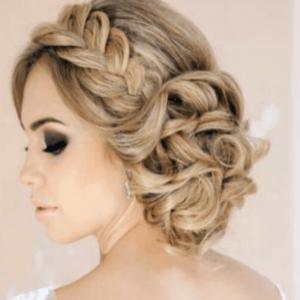 peinado de novia con trenzas bonitas
