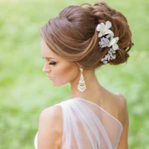 peinado de novia elegante