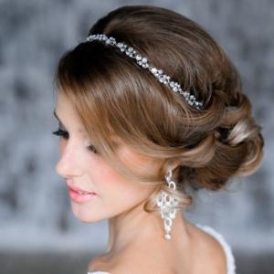 peinado de novia muy elegante