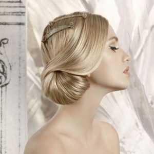 peinado de novia recogido asimetrico
