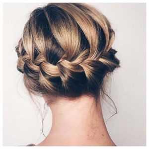 peinado de novia recogido bajo con trenza