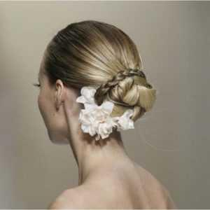 peinado novia bajo