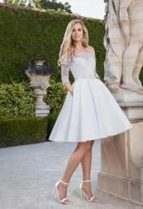 vestido de novia de boda civil