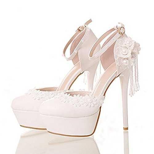 zapatos de novia abiertos con plataforma